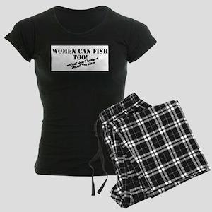 Women can fish too Women's Dark Pajamas