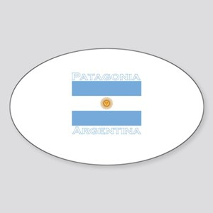 Patagonia, Argentina Oval Sticker