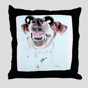 Daisy in Shades Throw Pillow