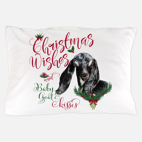 Christmas Wishes Baby Goat Kisses - Nu Pillow Case