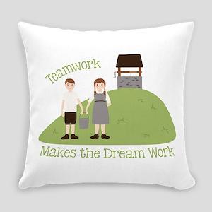 Teamwork Everyday Pillow