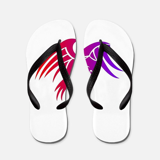 eagle tribal tattoo design Flip Flops