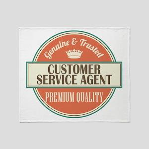 customer service agent vintage logo Throw Blanket