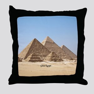 Pyramids at Giza Egypt Throw Pillow