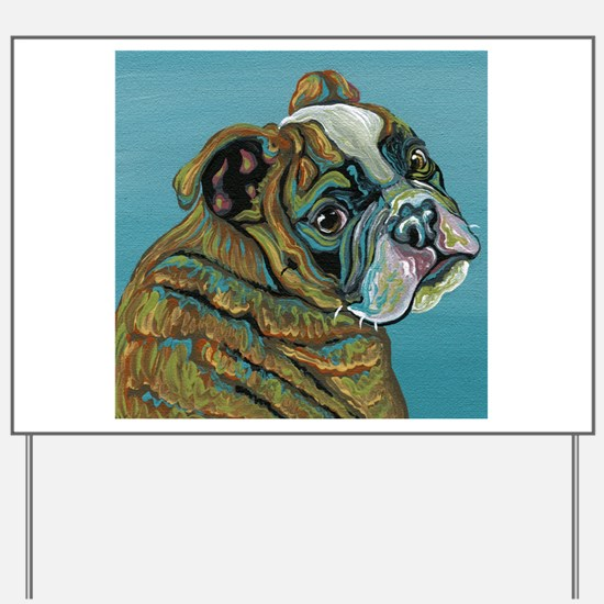 Olde English Bulldogge Yard Sign