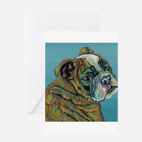 Olde English Bulldogge Greeting Cards