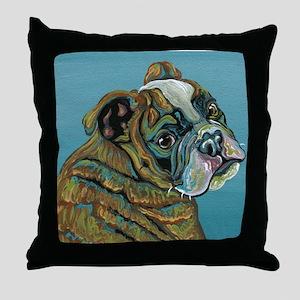 Olde English Bulldogge Throw Pillow