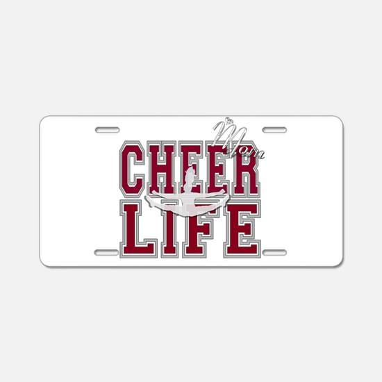 Red Cheer Mom Aluminum License Plate