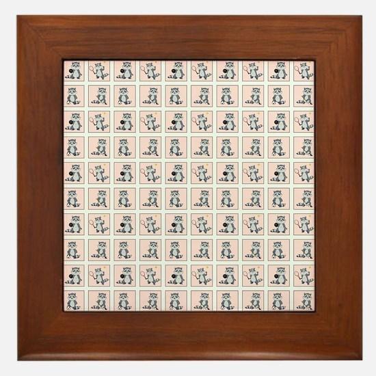 SPORTY RACCOON Framed Tile