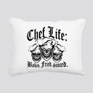 Chef Life: Baked. Fried. Rectangular Canvas Pillow