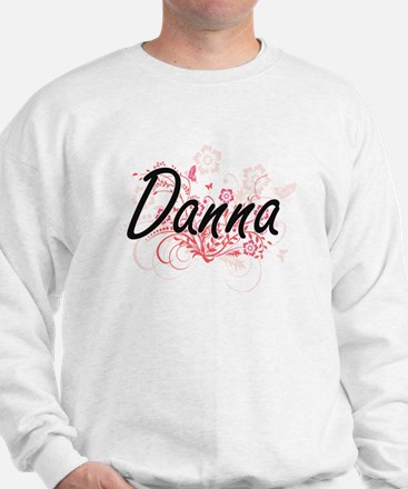 Danna Artistic Name Design with Flowers Sweater
