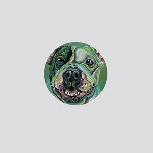 Rainbow Pit Bull Dog Mini Button