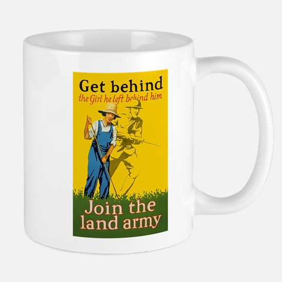 Victory Garden Join Land Army WWI Propa Mug