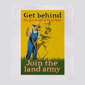 Victory Garden Join Land Army WWI Pr Throw Blanket