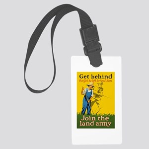 Victory Garden Join Land Army WW Large Luggage Tag