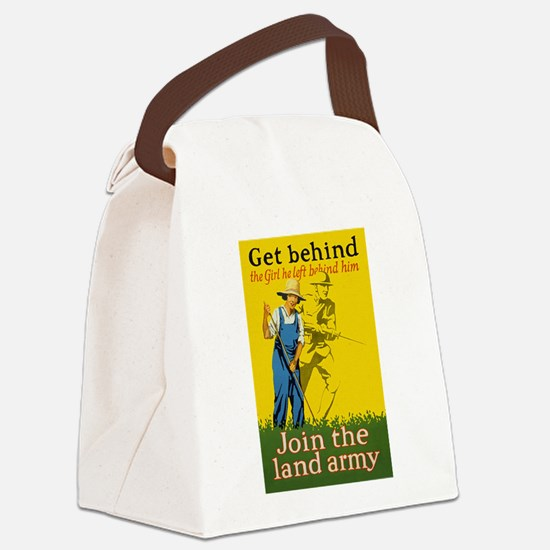 Victory Garden Join Land Army WWI Canvas Lunch Bag