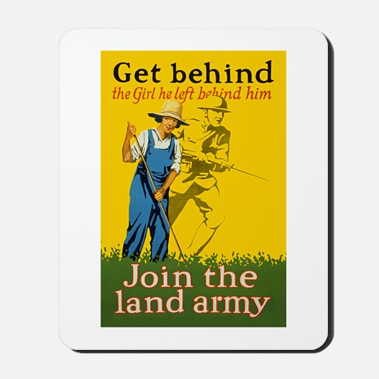 Victory Garden Join Land Army WWI Propag Mousepad