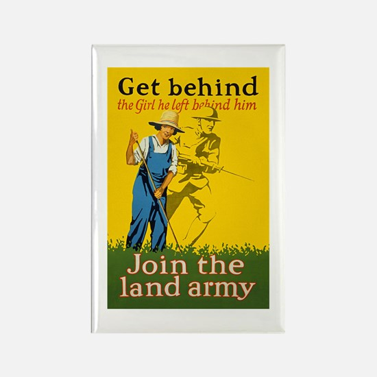 Victory Garden Join Land Army WWI Rectangle Magnet