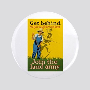 Victory Garden Join Land Army WWI Propagand Button