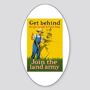 Victory Garden Join Land Army WWI P Sticker (Oval)