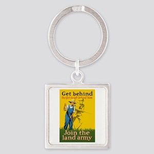 Victory Garden Join Land Army WWI Square Keychain