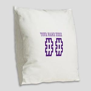Game Day Burlap Throw Pillow
