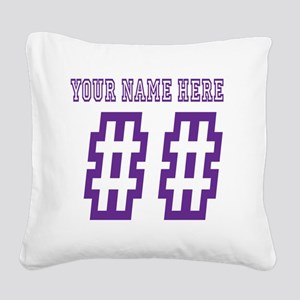 Game Day Square Canvas Pillow
