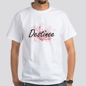 Destinee Artistic Name Design with Flowers T-Shirt