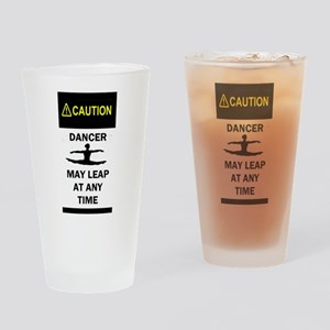 Caution Dancer Drinking Glass