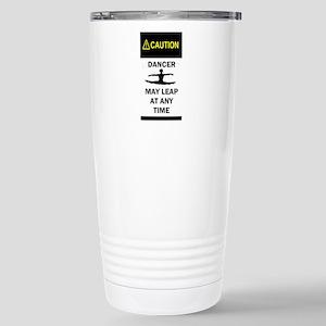 Caution Dancer Stainless Steel Travel Mug