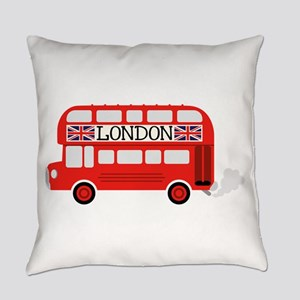 London Double Decker Everyday Pillow