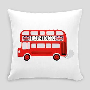 London Double Decker Everyday Pillow