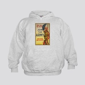 WWI Join the Call to Duty Army Propaga Kids Hoodie