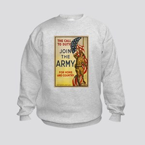 WWI Join the Call to Duty Army Pro Kids Sweatshirt