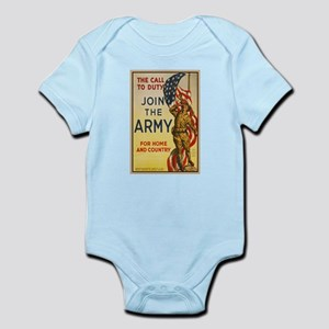 WWI Join the Call to Duty Army Pro Infant Bodysuit
