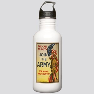 WWI Join the Call to D Stainless Water Bottle 1.0L