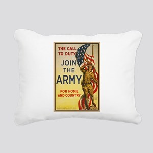 WWI Join the Call to Dut Rectangular Canvas Pillow