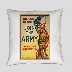 WWI Join the Call to Duty Army Pro Everyday Pillow