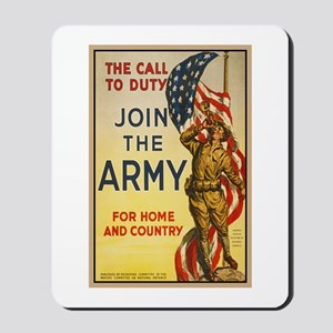 WWI Join the Call to Duty Army Propagand Mousepad