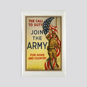 WWI Join the Call to Duty Army Pr Rectangle Magnet