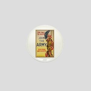 WWI Join the Call to Duty Army Propaga Mini Button