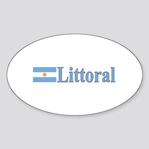 Littoral, Argentina Oval Sticker