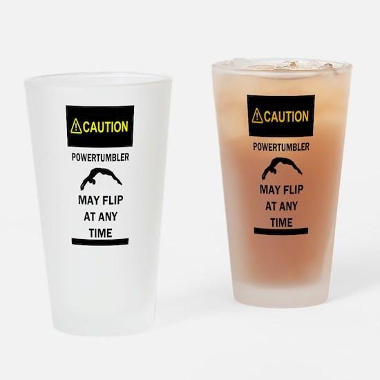 Caution Powertumbler Drinking Glass