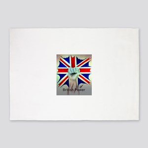 British Power 5'x7'Area Rug