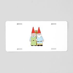 Gardening Gnomes Aluminum License Plate
