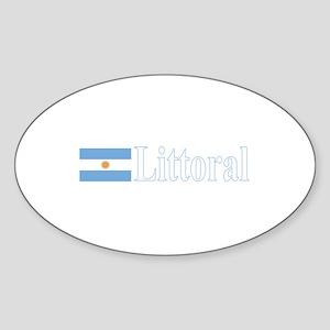 Littoral, Argentina Oval Sticker