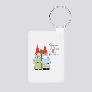 Gardening Gnome Couple Keychains