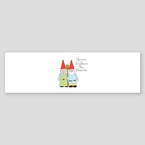 Gardening Gnome Couple Bumper Sticker