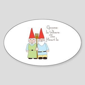 Gardening Gnome Couple Sticker