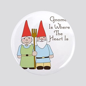 Gardening Gnome Couple Button